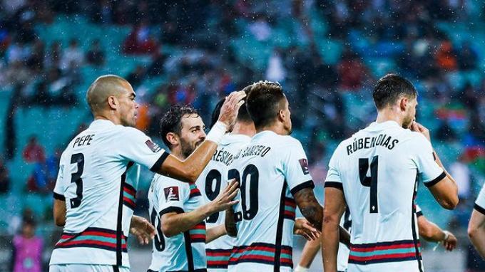 Portugal sanggup menang besar dengan skor 3-0 atas Azerbaijan di Stadion Baku, pada Selasa (7/9/2021)