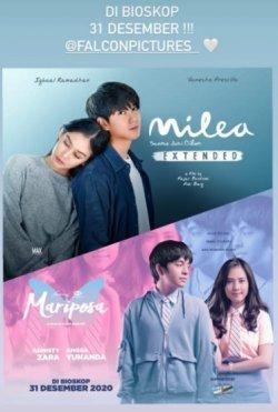 Film 'Mariposa' dan 'Milea: Suara Dari Dilan Extended' Hadir di Bioskop 31 Desember