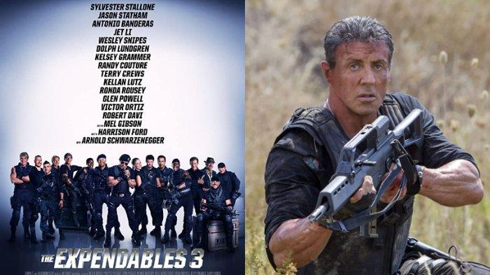 Sylvester Stallone dalam The Expendables 3 (2014)