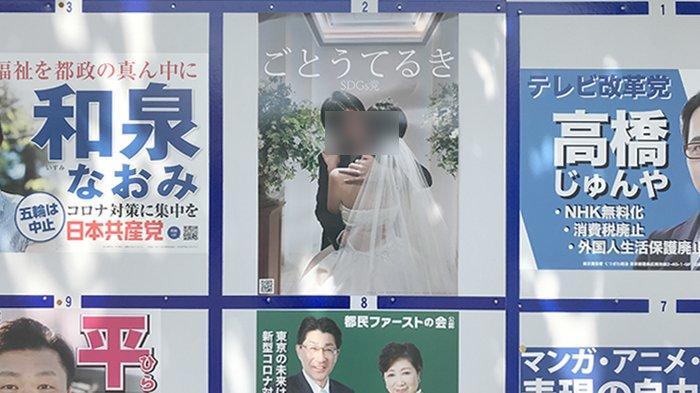 Calon Politisi Jepang Pasang Foto Saat Pernikahan Sebagai Alat Kampanye Pemilu DPRD Tokyo