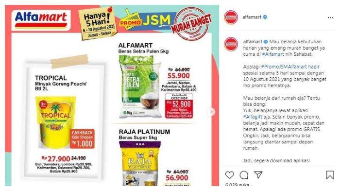 Postingan akun Instagram @alfamart tentang Promo JSM Alfamart.