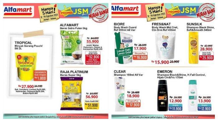 Hari Terakhir Promo JSM Alfamart 10 Agustus 2021, Harga Minyak Goreng 2 L Rp 27.900