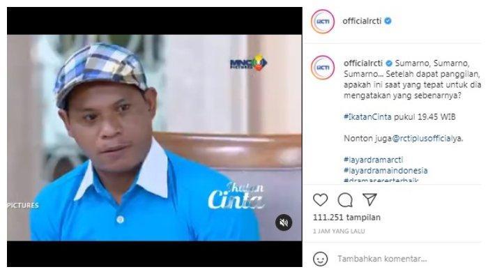 Postingan akun Instagram @officialrcti 16 Juli 2021.