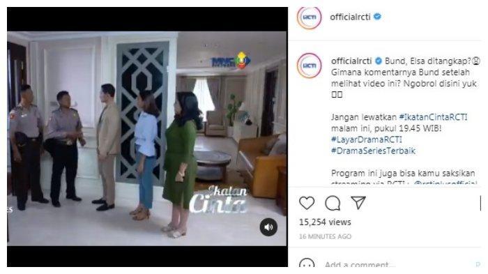 Postingan akun Instagram @officialrcti 29 Juli 2021.