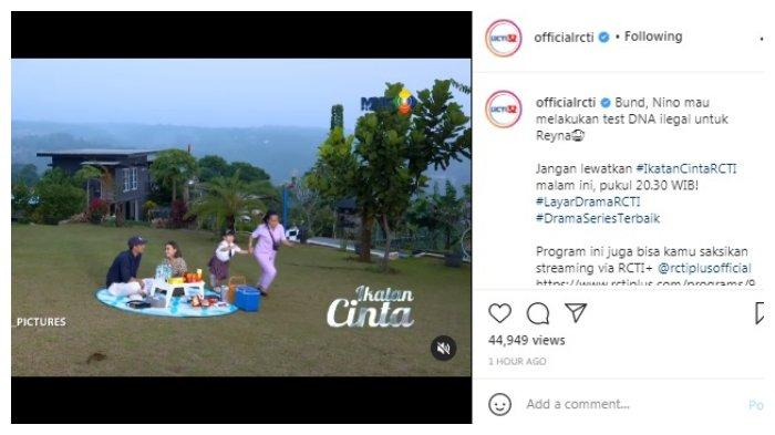 Postingan akun Instagram @officialrcti Sabtu, 14 Agustus 2021
