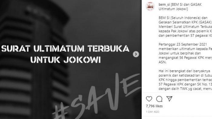 Ultimatum Tak Digubris Jokowi, BEM SI Demo di KPK Siang Ini