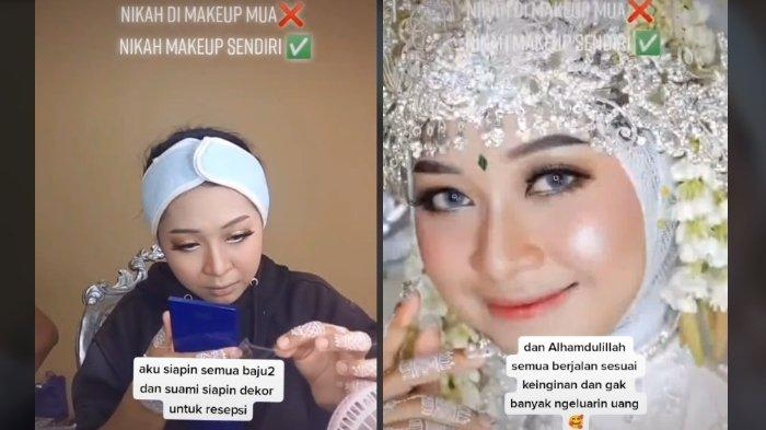 Postingan akun TikTok @dila_makeup.