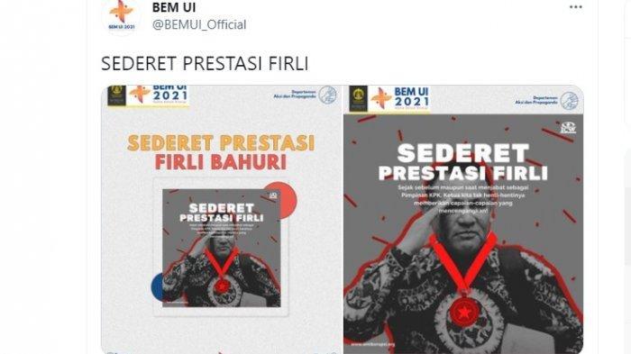 Postingan BEM UI yang kritik Ketua KPK Firli Bahuri