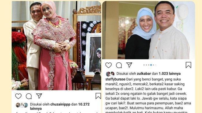 Kolase tangkapan layar postingan di Instagram Darwati A Gani dan Steffy Burase.