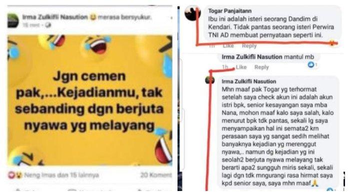 Postingan Istri HS yang bermuatan negatif dan diduga melanggar UU ITE.