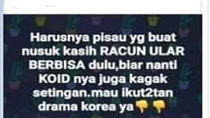 ?Seorang anggota Kodim 0707/Wonosobo, berinisial BD berpangkat Kopral Dua (Kopda), harus bersiap merasakan sanksi disiplin militer, lantaran ulah sang istri. Foto postingan oknum istri TNI.