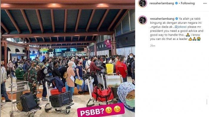 Postingan Ressa Herlambang soal keramaian di Bandara Soetta