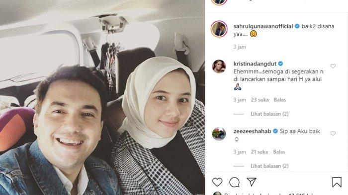 Postingan Syahrul Gunawan bersama Una Maulina (instagram @syahrulgunawanofficial)