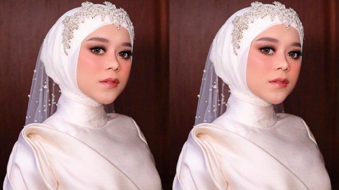 Potret make up lesti kejora saat tasyakuran pernikahan