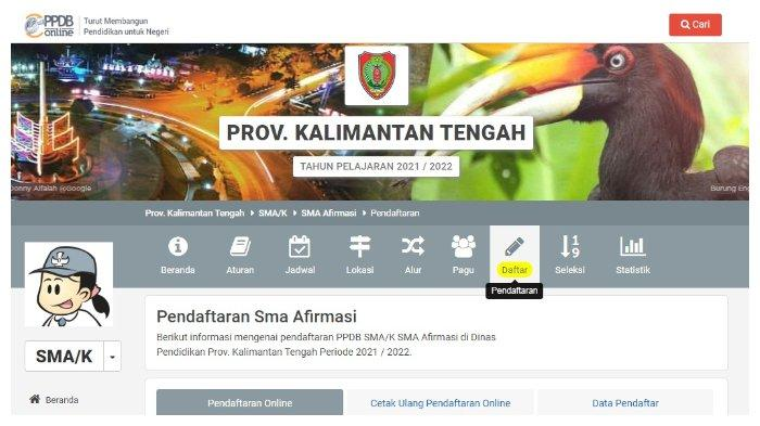 Akses kalteng.siap-ppdb.com, Segera Daftar PPDB SMA/SMK Kalteng 2021, Pendaftaran Ditutup Sore Ini