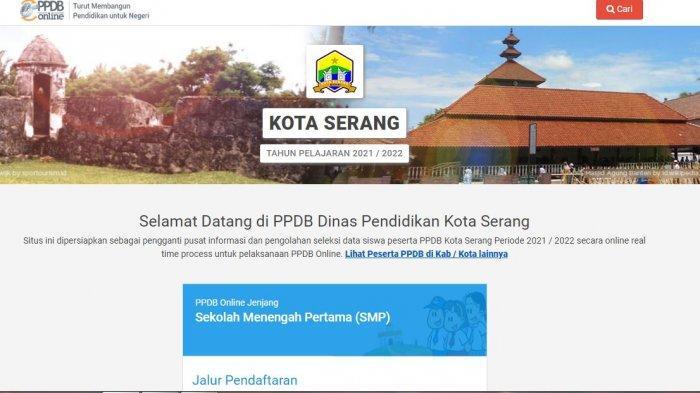 Jadwal Pengumuman dan Ketentuan Daftar Ulang PPDB Kota Serang 2021, Akses ppdbsmp.serangkota.go.id