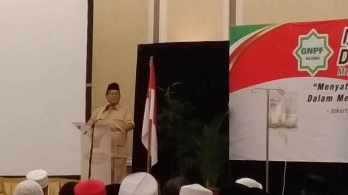 Bicara Masalah Ekonomi, Prabowo: Umat Islam yang Paling Merasakan Penghancuran Ekonomi Indonesia