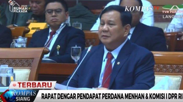 Menhan Prabowo Subianto Rapat Perdana dengan Komisi I DPR, Bahas Pertahanan hingga Visi Misi Jokowi