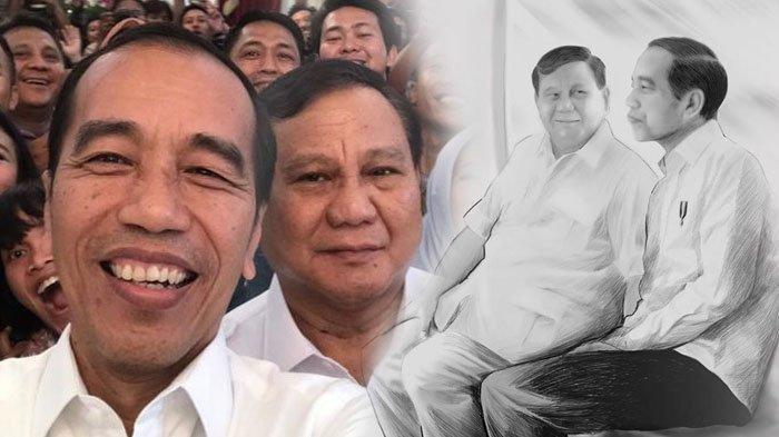 Prabowo Bagikan Foto Sketsa Menatap Wajah Presiden Jokowi & Ucap Terima Kasihnya 'Jaga Perdamaian'
