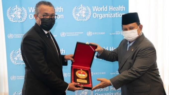 Bertemu Dirjen WHO di Jenewa, Prabowo Bahas Penanganan Pandemi Covid-19 dan Keamanan Kesehatan