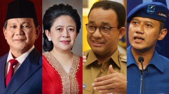 Prabowo Subianto, Puan Maharani, Anies Baswedan, Agus Harimurti Yudhoyono. Keempat nama tersebut diperkirakan akan masuk bursa Capres-Cawapres di Pilpres 2024.