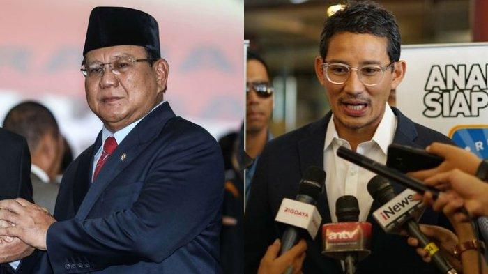 Hasil Survei LSI: Prabowo dan Sandiaga Uno Jadi Menteri Jokowi yang Kinerjanya Paling Memuaskan