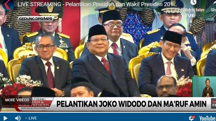 Reaksi Prabowo-Sandi Jadi Sorotan saat Bambang Soesatyo Bacakan Pantun di Pelantikan Jokowi & Maruf
