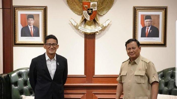 Menhan Prabowo Subianto dan Sandiaga Uno.