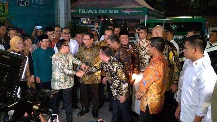 Ditemani Elite Gerindra, Prabowo Subianto Bertemu Cak Imin