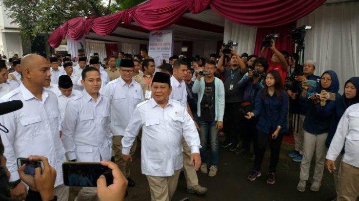 Prabowo Subianto saat HUT Gerindra