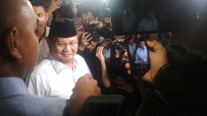 Ditemani Sejumlah Jenderal Purnawirawan, Prabowo Sampaikan Imbauan untuk Pendukungnya