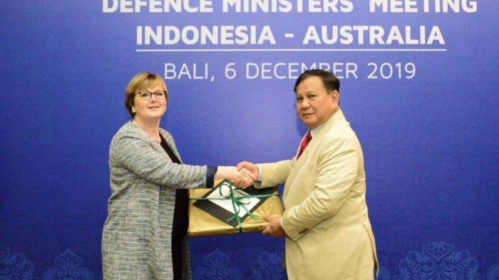 Menteri Pertahanan Republik Indonesia Prabowo Subianto bersama dengan Menteri Pertahanan Australia the Honourable Senator Linda Reynolds mengadakan pertemuan bilateral dalam forum Indonesia-Australia Defence Ministers' Meeting di Nusa Dua, Bali hari ini Jumat (6/12/2019).