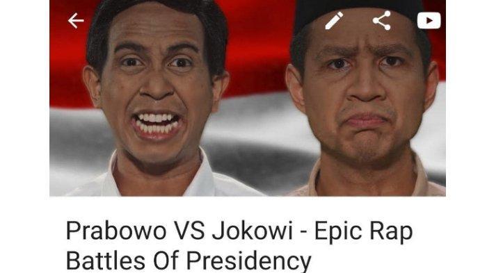 Viral Lagu Rap Battle Jokowi vs Prabowo, Jadi Trending YouTube, Kalahkan BLACKPINK dan BTS