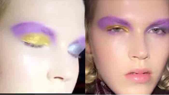 Metallic Smoky Eyes dan Modern Chelsea Girl Haircut Rajai Panggung Fashion Show Prada