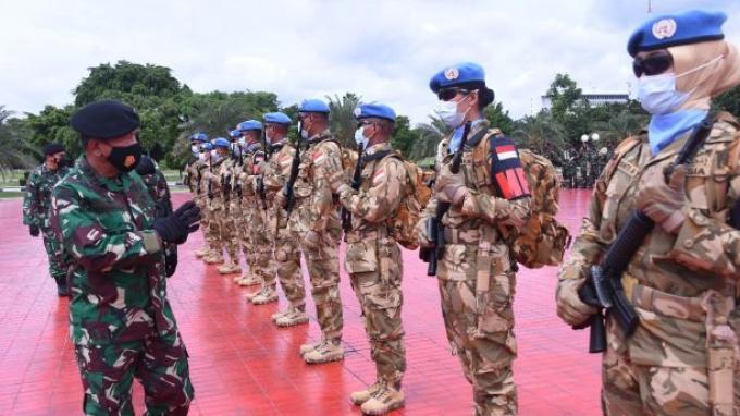 TNI Berangkatkan 1.090 Prajurit untuk Dukung Misi Perdamaian PBB