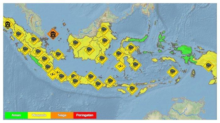 Prakiraan Cuaca BMKG di 33 Kota, Selasa 27 April 2021: Jakarta Cerah, Banjarmasin Hujan Petir
