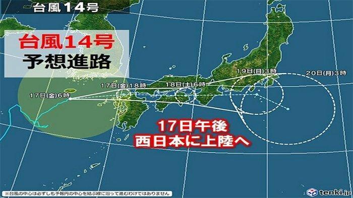 Kota-kota Besar di Jepang Diprediksi Dilanda Topan dan Badai Mulai Hari Ini Hingga 20 September 2021