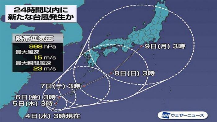Taifun No.9 Diperkirakan Akan Memasuki Tokyo Jepang Senin 9 Agustus 2021