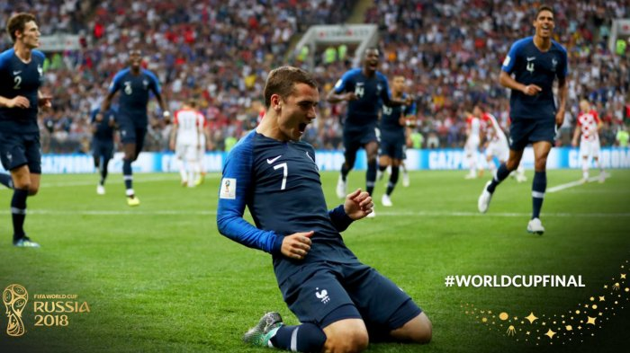 Prancis vs Kroasia: Berkat Gol Bunuh Diri dan Penalti, Les Bleus Unggul 2-1 di Babak Pertama