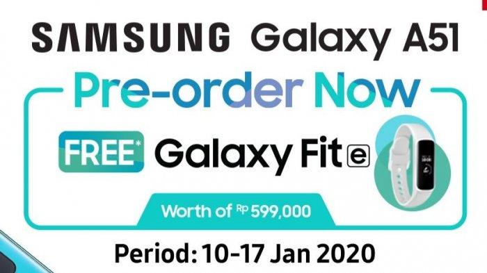 Pre-order samsung galaxy A51 (Shopee.co.id/Samsung Official Store)