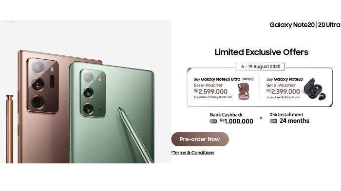 Samsung Galaxy Note20 dan 20 Ultra, Pre Order di Indonesia 6-19 Agustus 2020, Dapatkan e-Voucher-nya