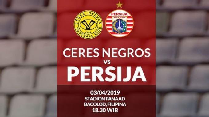 Link Live Streaming Ceres Negros vs Persija Jakarta Piala AFC Malam ini Jam 18.30 WIB