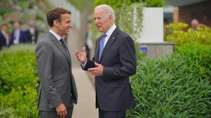 Biden dan Macron akan Bertemu Bulan Depan untuk Memperbaiki Hubungan AS dengan Prancis