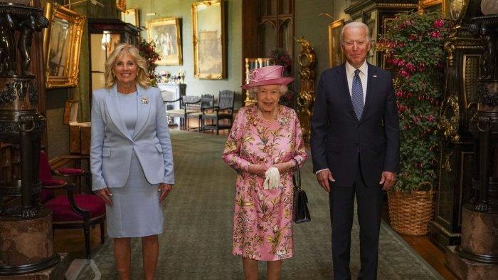 Presiden AS Joe Biden dan Jill Biden bertemu Ratu Elizabeth di Kastil Windsor pada Minggu, 13 Juni 2021