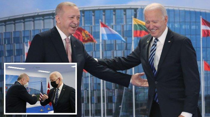 Biden-Erdogan Bertemu Pertama Kali Pasca Deklarasi Genosida Armenia, Saling Senyum dan Salam Siku