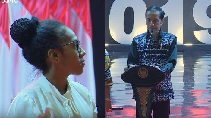 'Waduh, Presiden Dibentak' Respon Kaget Jokowi Dengar Jawaban Bernada Tinggi Gadis NTT Saat Natalan