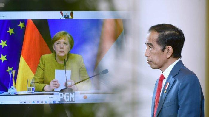 Jokowi dan Kanselir Jerman Bahas Kekhawatiran Nasionalisme Vaksin yang Masih Terjadi