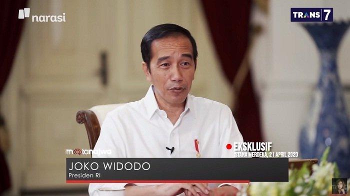 Presiden Joko Widodo dalam acara Mata Najwa