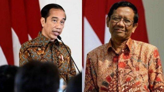 Presiden Joko Widodo dan Menko Polhukam Mahfud MD