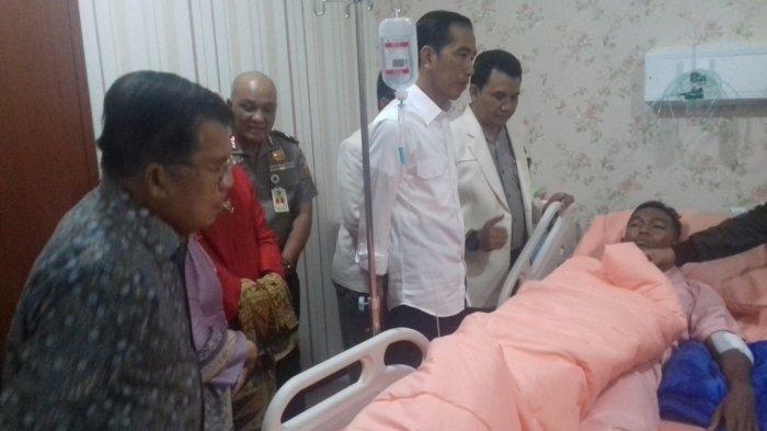 Jokowi Bersama Jusuf Kalla Jenguk Korban Serangan Bom Bunuh Diri Kampung Melayu di RS Polri